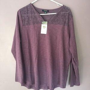 Chaps lavender long sleeve shirt size 2x